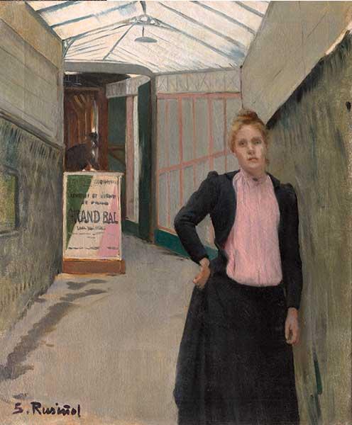 Santiago Rusiñol, Grand Bal. Amb Madeleine de Boisguillaume com a model (1891). Colección Masaveu