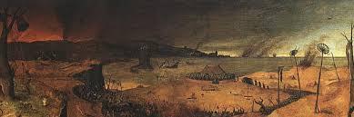 El triomf de la mort, de Peter Bruegel, ha estat sovint un correlat visual de La terra erma