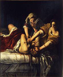 Artemisia Gentileschi, Judith decapitant Holofernes (1614-1620), Galleria Uffici, Florència