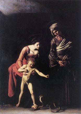 Caravaggio Madonna dei palafrenieri, 1605 (2)