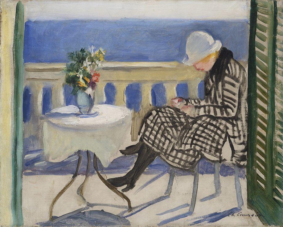 camoin, Lola sur le balcon, 1920, Col part