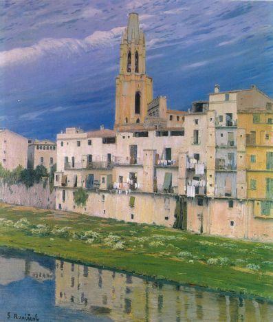 L'Onyar al seu pas per Girona