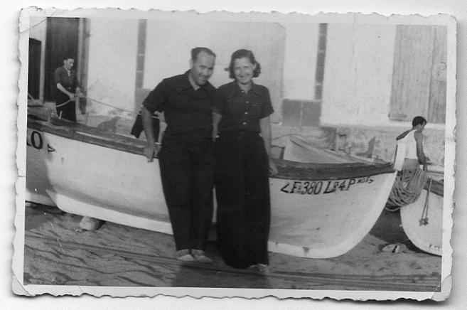 Kurt Sontheimer i Rosl, juny 1934, a Sant Pol de Mar