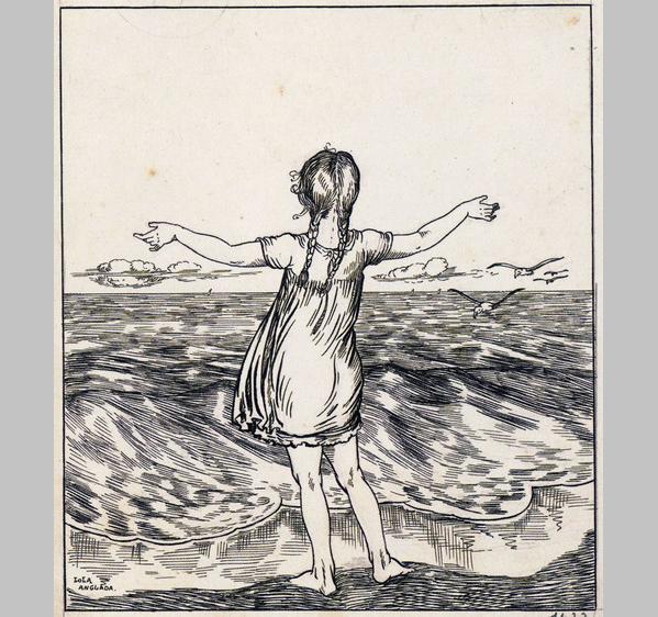 Lola Anglada, s titol, Nena davant de mar