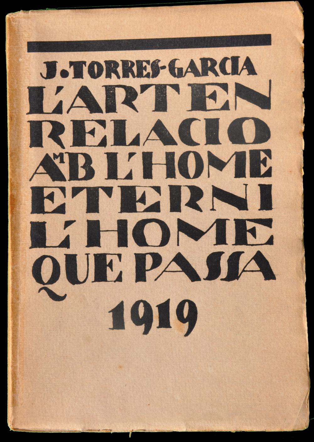 Torres-Garcia, L'art en relació amb lhome etern i l'home que passa 1919 còpia