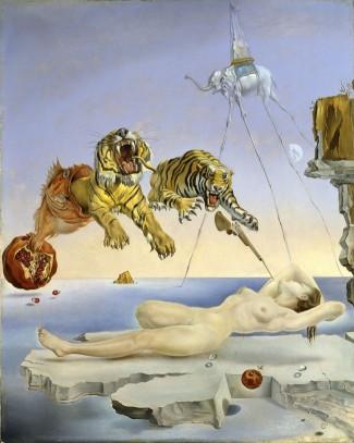 650_15308684841.-Salvador-Dal.-Un-segon-abans-de-despertar-dun-somni-provocat-pel-vol-duna-abella-al-voltant-duna-magrana,-c-1944.-Museo-Nacional-Thyssen-Bornemisza,-Madrid