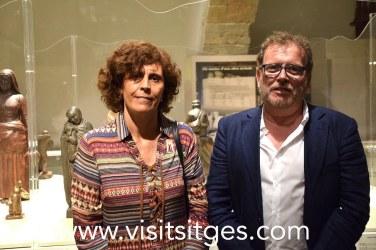 """Esther Baron i Ignasi Domènech, comissaris de l'exposició """"Gustau Violet. Art, pensament i territori"""""""