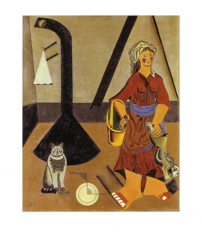 Joan Miró. La masovera i el gat. 1923