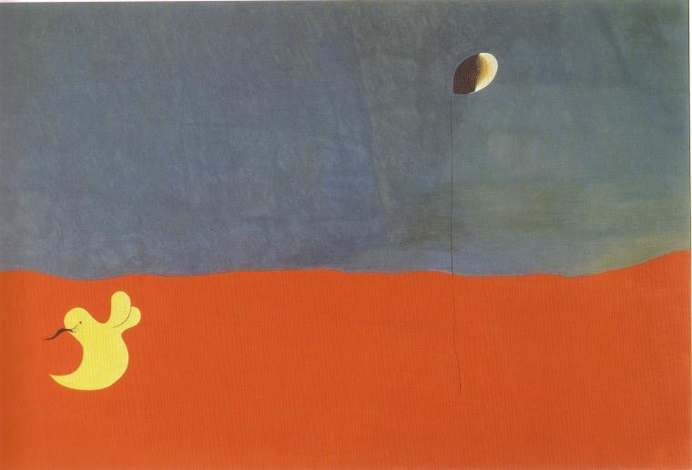 Joan Miró. Paisatge del conill i de la flor. 1927