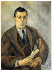 El poeta Trinitat Catasús retratat per Joaquim Sunyer (1916)