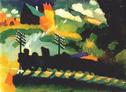 El tren de Murnau, per Kandinsky