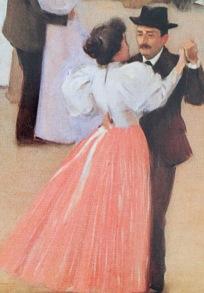 """La faldilla rosa del """"Ball de tarda"""", de Ramon Casas (1896, Cercle del Liceu)"""