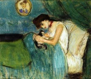 Picasso, dona i gat