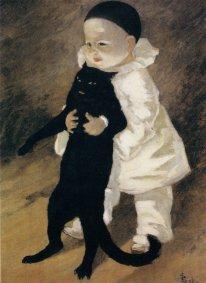 Steinlen, Petit clown amb gat negre