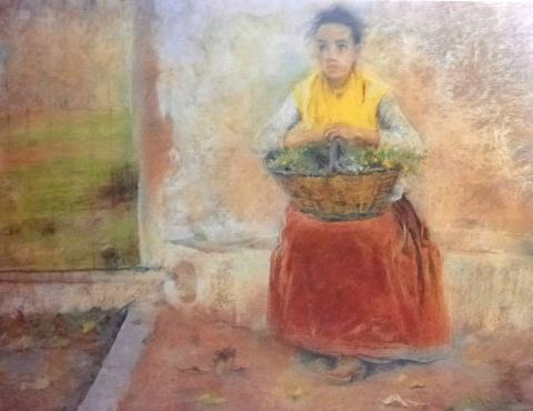 Mas i Fondevila, Noia suburenca- La pubilleta - Descans, ca. 1893, Museu del Cau Ferrat