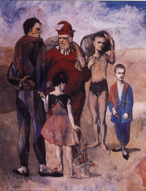 Picasso. Família de saltimbanquis. 1905