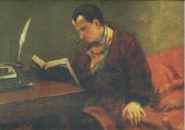 Gustave Courbet, Retrat de Baudelaire, 1848, Musee Fabre, Montpeller còpia